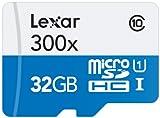 Lexar High-Performance MicroSDHC 300x 32GB UHS-I/U1 w/Adapter Flash Memory...