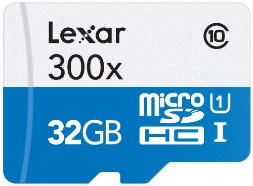 Lexar Schede High Performance 300x MicroSDHC/MicroSDXC, 32 GB, UHS-I