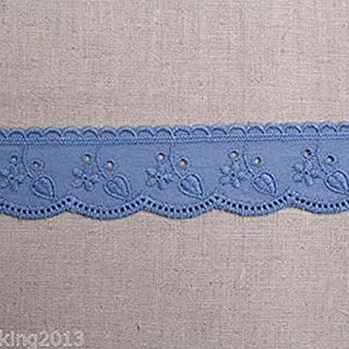 Best navy blue broderie anglaise trim Reviews
