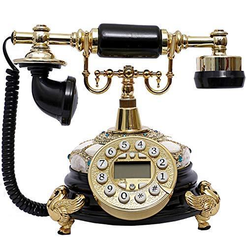 Teléfono Retro Europeo/teléfono clásico clásico, Resina, dial de Botones, Suministros de Oficina en casa - Blanco
