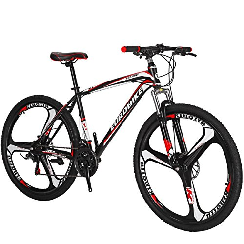 SL Mountain Bike X1 21 Speed 27.5 Inches 3-Spoke Wheels Dual Suspension Bicycle (Red)