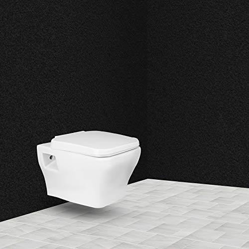 Hindware Element One Piece Ceramic Wall Mounted Western Toilet Commode (54 X 36 X 34 cm, Starwhite)