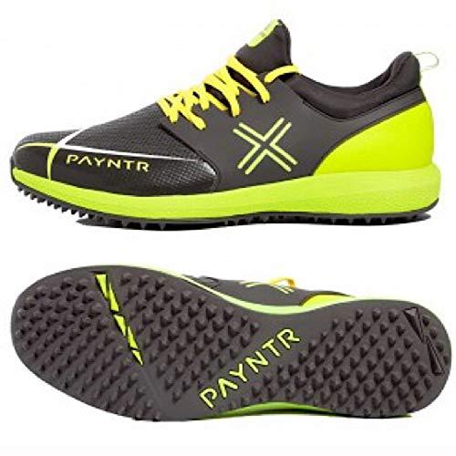 PAYNTR EVO Pimple Cricket Shoes – Black & Yellow (US 12)