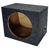 Car Audio Single 12' Sealed Subwoofer Rear Angle Sub Box Enclosure 5/8' MDF Wood