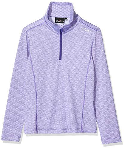 CMP Mädchen Ski Rolli 39L2525 Shirt, Bianco-Lapis-Iris, 140