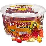 HARIBO Piraten-Mix, Gummibärchen, Säbel, Pirat, Segelschiff, Fruchtgummi, 150 Stück, Dose, 1200 g