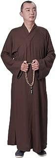 Buddhist Shaolin Temple Monk Robe Cotton Linen Long Robes Gown Kung Fu Uniforms Martial Arts Clothings Men Women