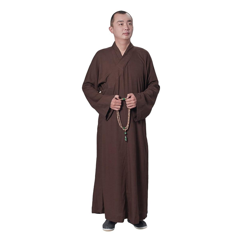 ZooBoo Buddhist Shaolin Temple Monk Robe Cotton Linen Long Robes Gown Kung Fu Uniforms Martial Arts Clothings Men Women