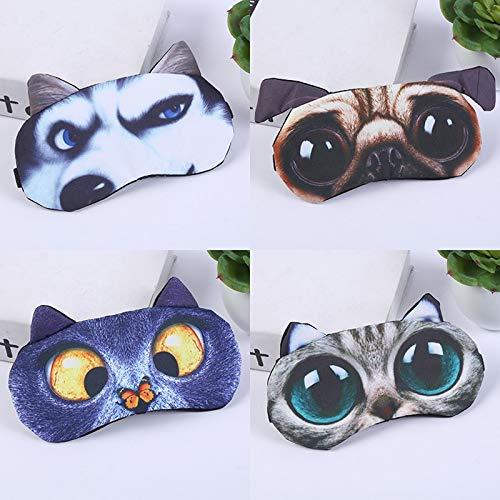 Oogmasker Oogschaduw Cover Schaduw Natuurlijke Slapende Oog Patch Leuke Kat Hond Slaap Masker Vrouwen Mannen Zachte Blindfold Reizen Eyepatch