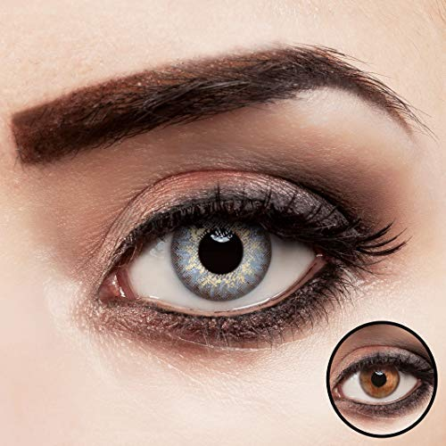 aricona Kontaktlinsen farbig ohne Stärke   Premium   natürliche Jahreslinsen - 2er Pack
