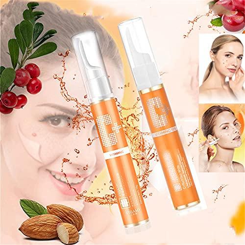 Instant Blemish Removal Gel, Whitening Freckle Cream, Vc Whitening Freckle Serum Brighten Skin, Non-Irritating Naturals Vitamin C Repair Cream (2PCS)