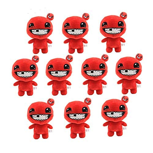 panggedeshoop Juguete Suave Al por Mayor 10Pcs 30Cm Juego The Binding of Isaac Afterbirth Rebirth Toy Doll Game Figure Super Meat Boy Soft Stuffed Doll
