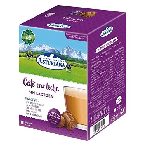 Central Lechera Asturiana Cápsulas De Café Con Leche Sin Lactosa, Paquete De 16 Cápsulas, 1 x 280 g