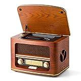 SHUMAN Radio rétro MC-261 Nostalgic (AM / FM) avec Lecteur CD / MP3, Lecture USB et Haut-parleurs intégrés