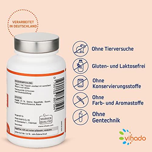 Vihado Omega 3 Fischöl-Kapseln, Omega-3 Fettsäuren hochdosiert + Vitamin E, 120 Kapseln, 1er Pack (1 x 85,8 g) - 3