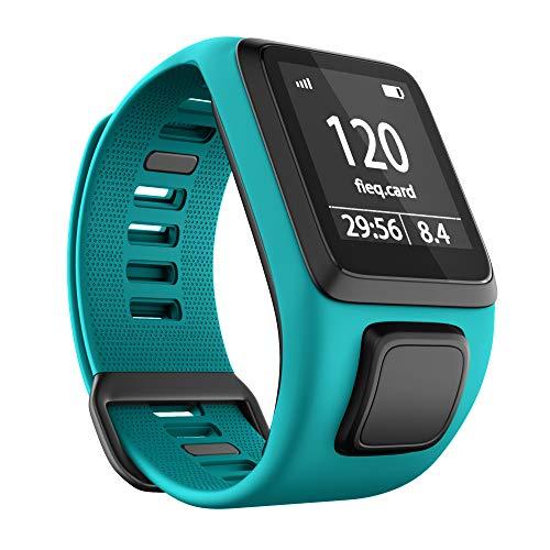 ANBEST Kompatibles mit Tomtom Runner 3 Armband, Umweltschutz TPU Band für Tomtom Spark 3, Runner 2, Golfer 2, Adventurer Smart Watches(Aquamarinblau)