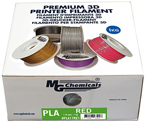 MG Chemicals Copper PLA 3D Printer Filament, 1.75 mm, 1 kg Spool