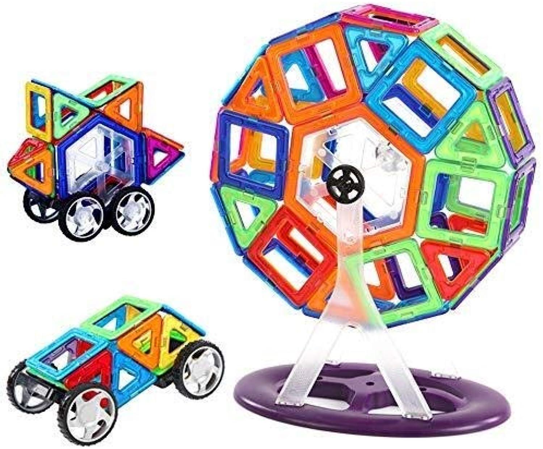 QNDYDB 3-7 Jahre Alte DIY Zusammengebaute Frühe Kindheits-Bildungs-magnetische Stück-Bausteine, Transparentes Magnetisches Kinderspielzeug-Geschenk 78PCS