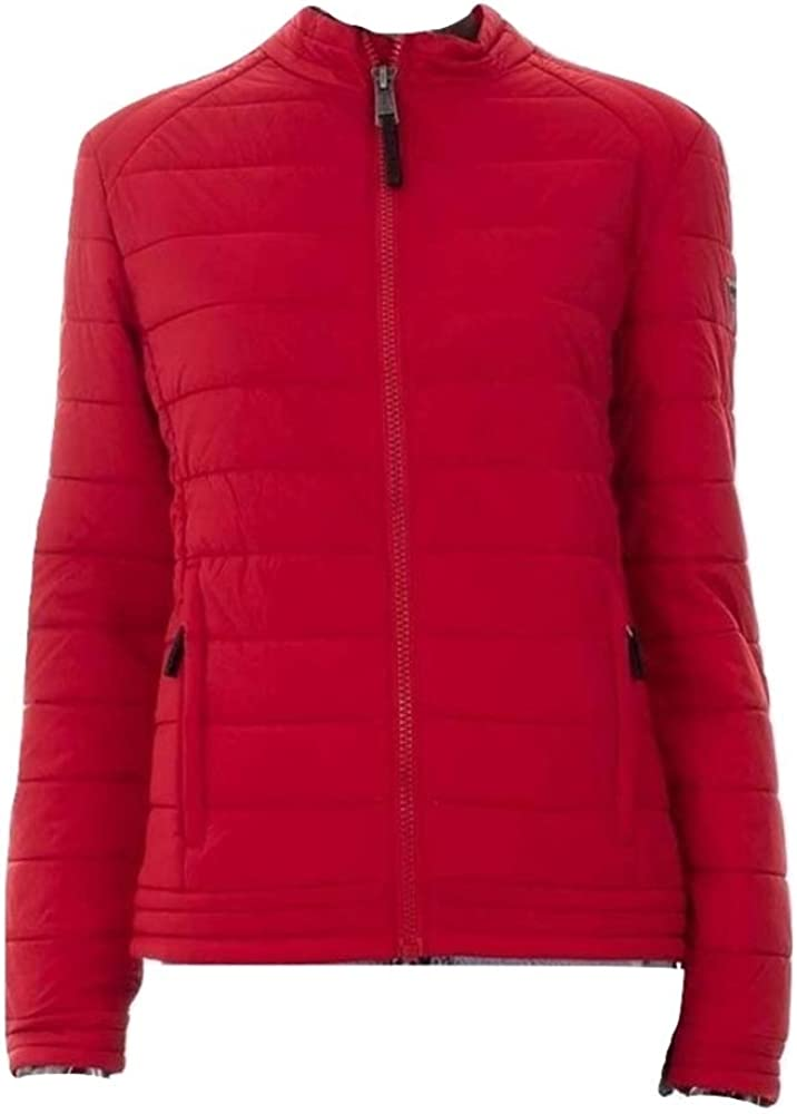 Guess,giubbotto rosso per donna,giacca trapuntata slim stretch,86% poliammide, 14% elastan M91L31TLRD