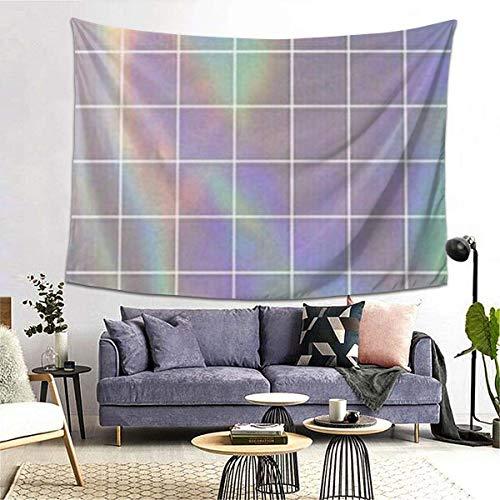 GFHUTGD CGNGFNG Tapiz de pared con estampado cuadrado reflectante para colgar en la pared para dormitorio, sala de estar, dormitorio, decoración de dormitorio universitario, (203 x 152 cm)