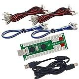 SJ@JX Arcade 2 Player USB Encoder Arcade Zero Delay Encoder Board 2 Player PC MAME Retropie