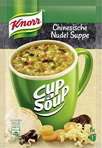 Knorr Cup a Soup Fertigsuppe für die schnelle Zubereitung Chinesische Nudel Suppe, 18x 31g