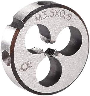 uxcell スレッドダイ 丸型ダイス 右手マシンスレッドダイ ネジダイツール HSS (高速スチール) ピッチM3.5 M3.5x0.6