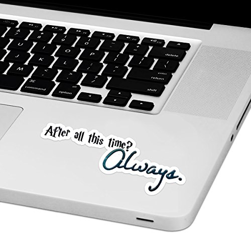 "After All This Time Laptop Trackpad Sticker 4"" Wide x 1.5"" Tall"