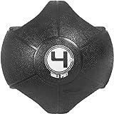 GORILLA SPORTS Medizinball mit 2 Hand-Griffen – Gewichtsball aus Gummi Schwarz 4 kg