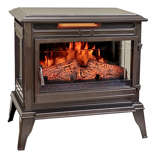 Comfort Smart Jackson Infrared Electric Fireplace Stove Heater, Bronze - CS-25IR-BRZ