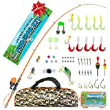 Kids Fishing Pole and Tackle Box Kit - Telescopic Kids Fishing Poles for Boys Perfect to Inspire a Lifetime Passion - Durable Youth Fishing Pole with Accessories Included and Non-Slip EVA Foam Handle