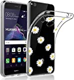 SUMIXON Funda para Huawei P8 Lite 2017, delgada, transparente, TPU, antigolpes, compatible con Huawei P8 Lite 2017, resistente a los arañazos, suave silicona protectora, crisantemo