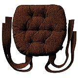 Dekoria Stuhlkissen Martin mit Schleifen Kissen 40 × 37 × 8 cm orange-schwarz