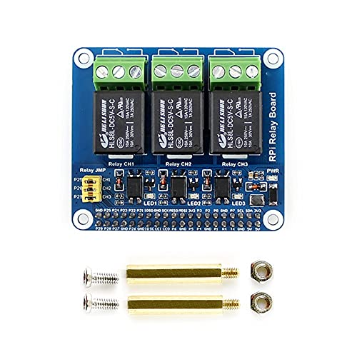 Placa de relé de 3 canales Placa de expansión Raspberry Pi Módulo de relé de potencia de aislamiento de optoacoplador para Raspberry Pi A + / B + / 2B / 3B / 4B