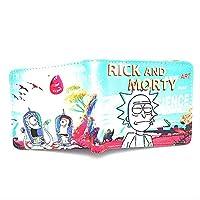 LMDZSW Carteras de Dibujos Animados Película Rick and Morty Monedero Tarjetero con Bolsillo con Cremallera Cion 01