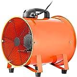 Starsmyy Extractor Industrial Portátil 200 mm, Ventilador Profesional para Construcción 250 W, Ventilador Portátil de Piso Industrial, Eléctrico Ventilador y Extractor de Aire