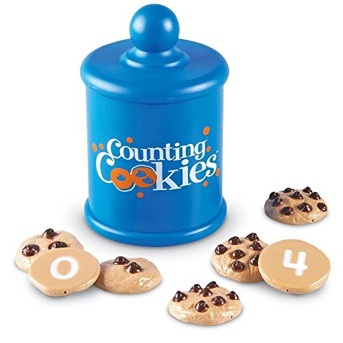 Learning Resources Smart Counting Cookies, Counting, Sorting, 13 Piece Set, Ages 2+ Multi-color, 11 Pieces