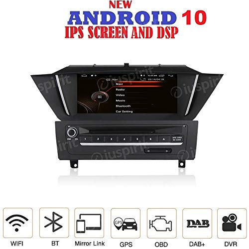 Android 8.0 GPS DVD USB SD WI-FI Bluetooth DAB+ MirrorLink Autoradio Navigationssystem kompatibel mit BMW X1 E84 2009 2010 2011 2012 2013 2014