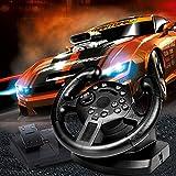 Lenkrad Spiel Rennradlenkung für PS3 Vibration PC Joysticks Fernbedienungsräder Fahren für den PC mit Pedal und Benutzerhandbuch