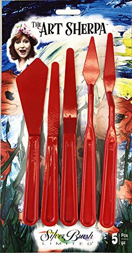Silver Brush Limited, The Art Sherpa, Painting & Palette Knife Set Acrylic Paintbrush
