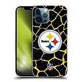 Head Case Designs Licenza Ufficiale NFL Giraffa Stampa Animale Pittsburgh Steelers Art Cover in Morbido Gel Compatibile con Apple iPhone 12 PRO Max