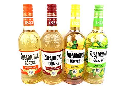 Vierer Paket Zoladkowa Gorzka Vodka (4x0,5) 1 Trditionel, 1 Black Shery, 1 Limette Minze, 1 Quitten Minze