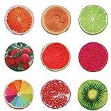 3D Frucht Sitzkissen Obst Kissen Stuhlkissen rund Stuhl Kissen Deko Stuhlauflage - Wassermelone
