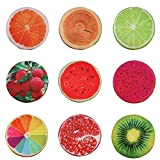 3D Frucht Sitzkissen Obst Kissen Stuhlkissen rund Stuhl Kissen Deko Stuhlauflage - Lemon
