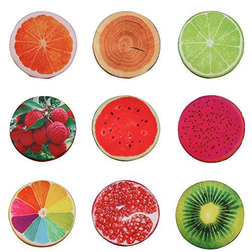 3D Frucht Sitzkissen Obst Kissen Stuhlkissen rund Stuhl Kissen Deko Stuhlauflage - Kiwi
