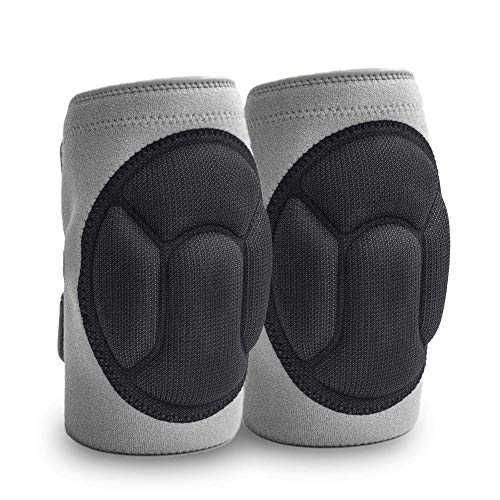 JYSW Knee Pads Comfortable Non-Slip, Thick Extra Foam Cushion kneepads for Scrubbing Floors, Gardening, Yoga & Construction, Soft Inner Liner, Strong Double Straps and Adjustable Easily for women(S)