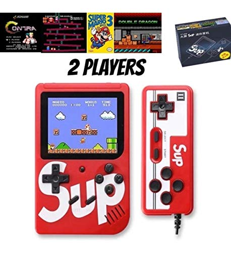 SmartCam®️ Colourful LCD Screen USB Rechargeable Portable Retro Battery Handheld Console with Remote Controller Sup Handheld Game Console Can Connect to A TV 2 Player