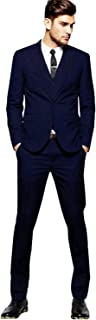 YZHEN Men's 3 Pieces Green Wedding Suits Two Buttons Men Prom Groom Tuxedos