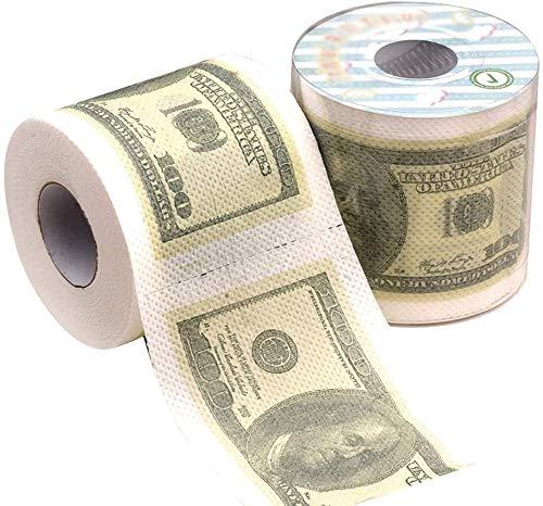 Famyfamy 1 Rollo 100 Cien Eua Dólar Bill Papel Higiénico Tela Servilleta Broma Diversión Fiesta Cumpleaños Regalo