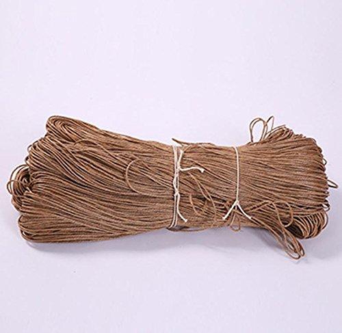 Chanvre cordon/Cire filetage/Sac Emballage corde/étiquette photo mur décoratif en corde, soil yellow
